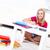 menina · estudar · sorridente · sessão · piso · casa - foto stock © kalozzolak