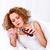 mulher · xarope · jovem · bela · mulher · gripe - foto stock © kalozzolak