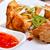 アジア · フライド · 皿 · 甘い · ソース · 竹 - ストックフォト © kalozzolak