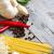 garlic pepper basil pasta and parmigiano background stock photo © karaidel