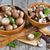 champignons · kommen · vers · ruw · mes · houten - stockfoto © karaidel