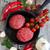 hús · zöldségek · nyers · húsgombócok · vasaló · serpenyő - stock fotó © Karaidel