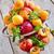 pêssegos · maduro · cerâmico · oliva · madeira · secretária - foto stock © karaidel