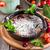 frans · kers · keramische · rustiek · houten · tafel · achtergrond - stockfoto © karaidel