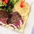 filé · hús · zöldségek · tehén · étterem · zöld - stock fotó © karammiri