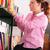 учитель · молодые · библиотека · книга · девушки - Сток-фото © karammiri