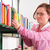 молодые · женщины · студент · книга · библиотека - Сток-фото © karammiri