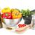 fresco · alho · salsa · isolado · branco · comida - foto stock © karandaev