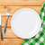 lege · plaat · vork · mes · groene · voedsel - stockfoto © karandaev