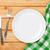 empty plate silverware and towel stock photo © karandaev