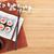 evőpálcikák · sakura · ág · szójaszósz · bambusz · fa · asztal - stock fotó © karandaev