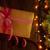 Natale · scatola · regalo · ramo · tavolo · in · legno - foto d'archivio © karandaev