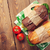 dos · ensalada · jamón · queso · tomates - foto stock © karandaev