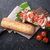 сэндвич · Салат · прошутто · моцарелла · сыра · каменные - Сток-фото © karandaev