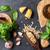 tigela · pesto · mesa · de · madeira · branco · comida · restaurante - foto stock © karandaev