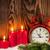 Noel · mumlar · çalar · saat · kardan · adam · ahşap · duvar - stok fotoğraf © karandaev