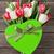 színes · tulipánok · virágcsokor · ajándék · doboz · szív · alakú - stock fotó © karandaev