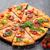 pizza · paradicsomok · mozzarella · bazsalikom · házi · készítésű · felső - stock fotó © karandaev