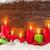 christmas candles in snow stock photo © karandaev