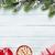 Navidad · mitones · chocolate · caliente · malvavisco · mesa · de · madera - foto stock © karandaev