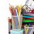 school and office supplies and alarm clock stock photo © karandaev