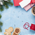 christmas background with gift boxes stock photo © karandaev