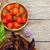 fresco · agricultores · tomates · manjericão · isolado · branco - foto stock © karandaev