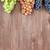 monte · colorido · uvas · folhas · mesa · de · madeira · cópia · espaço - foto stock © karandaev