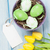 easter with eggs and yellow tulips stock photo © karandaev