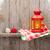 Noel · mum · fener · ahşap · duvar - stok fotoğraf © karandaev