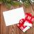 Noel · tebrik · kartı · eldiveni · ahşap · ahşap · masa - stok fotoğraf © karandaev
