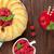 framboos · smoothie · cake · bessen · houten · tafel · top - stockfoto © karandaev