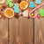 christmas wooden background with candies spices gingerbread co stock photo © karandaev