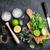 fresco · mojito · coquetel · bar · utensílios · mesa · de · madeira - foto stock © karandaev