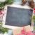 christmas chalkboard gift and fir tree stock photo © karandaev