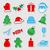 Noel · ren · geyiği · ikon · model - stok fotoğraf © karandaev