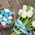 rústico · blanco · azul · cinta · amor · corazón - foto stock © karandaev