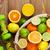 narenciye · meyve · sepet · portakal · limon · beyaz - stok fotoğraf © karandaev