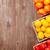 kleurrijk · tomaten · houten · tafel · top · exemplaar · ruimte - stockfoto © karandaev