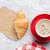fresco · croissant · branco · ouro · café · da · manhã · isolado - foto stock © karandaev