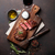 gegrild · biefstuk · rode · wijn · kruiden · specerijen · top - stockfoto © karandaev