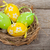 verde · easter · eggs · nido · satinato · nastro · piccolo - foto d'archivio © karandaev