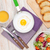healthy breakfast with fried egg toasts and salad stock photo © karandaev
