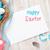 húsvét · üdvözlőlap · kék · fehér · tojások · ajándék · doboz - stock fotó © karandaev