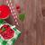 framboos · smoothie · bessen · geïsoleerd · witte · blad - stockfoto © karandaev