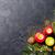 Noël · bougies · neige · bois · mur - photo stock © karandaev