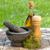 tuin · salade · olijfolie · slasaus · gezondheid · tabel - stockfoto © karandaev