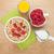 desayuno · muesli · bayas · jugo · de · naranja · aislado · blanco - foto stock © karandaev