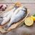 fresche · pesce · cottura · spezie · tavolo · in · legno - foto d'archivio © karandaev