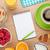 healthy breakfast with muesli berries orange juice and croissa stock photo © karandaev